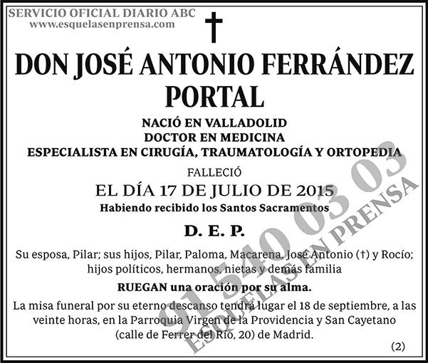 José Antonio Ferrández Portal